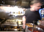 working at the griddle